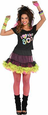 I Love The 80s T-shirt for Women Hippie Workout Neon Theme Halloween Costume - 80s Costumes For Halloween