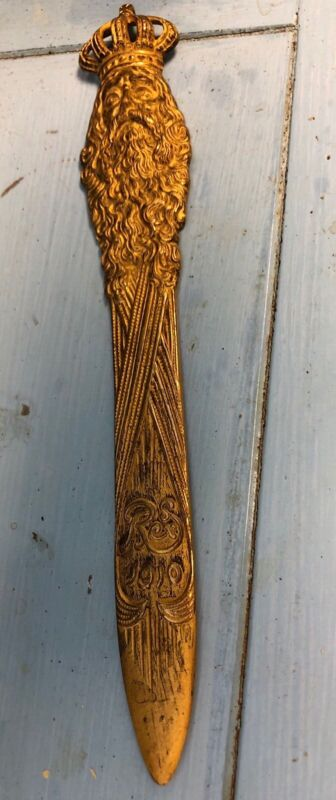 Antique 1910 Krewe of Rex Letter Opener Mardi Gras Krewe of Rex Ball Favor