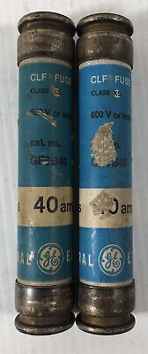 General Electric 40 Amps Lot Of 2 Clf Fuses