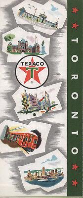 1963 Texaco Road Map: Toronto NOS