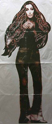 Cher 1975 Stars Super Rare Punch Out Promotional Poster