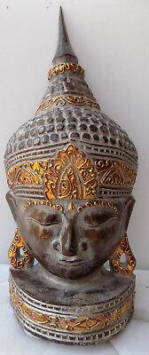 Head of Buddha CM51 Wooden Indonesia Shiva Ganesh Shiva Divinity Sculpture 1