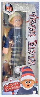 Dallas Cowboys NFL American Football Christmas Room Decoration Team Elf](Dallas Cowboys Room Decor)