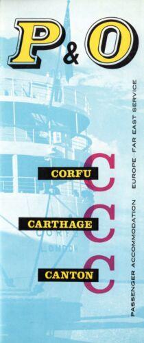 1950s P&O CORFU, CARTHAGE & CANTON Interiors Brochure- NAUTIQUES sHiPs WORLDWIDE