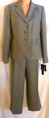 Le Suit Pant Suit 10 Short Gray Fully Lined NWT MSRP $200