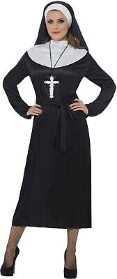 NUN COSTUME Habit Dress Holy Sister Act Womens Fancy Dress Inc LARGE PLUS SIZE