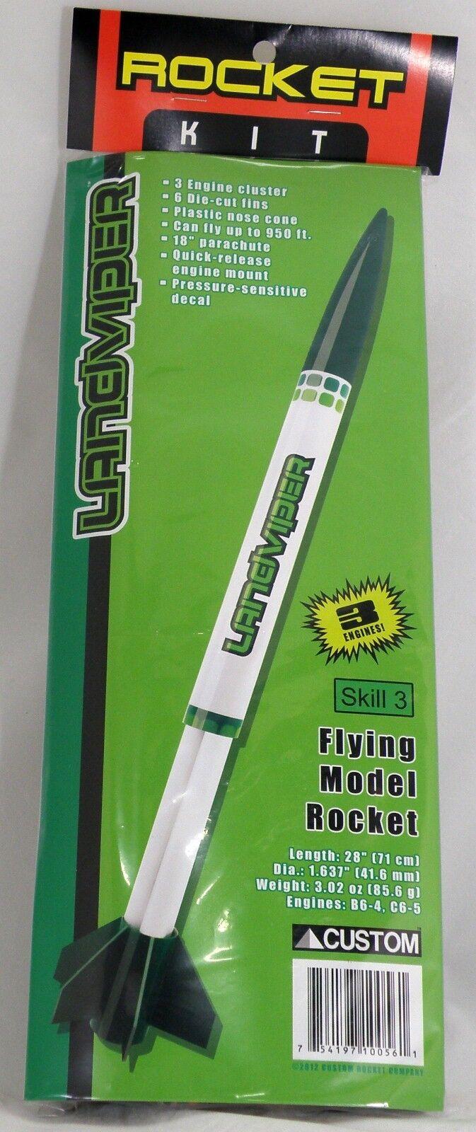 Landviper Model Rocket Kit - Skill Level 3 - Custom Rocket Company Toys