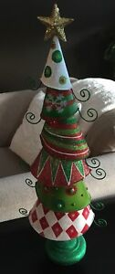 Whimsical Metal Christmas Tree