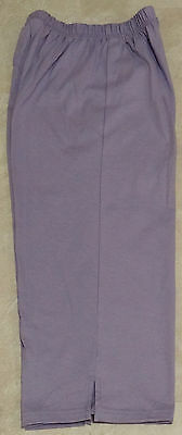 Women Elastic Waist Knit Jersey Capri Pants: NWOT-S-M-L-XL-1X-2X-3X    - Elastic Waist Jersey Knit Pants