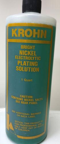 KROHN BRIGHT NICKEL PLATING SOLUTION ELECTROPLATING 1 QUART