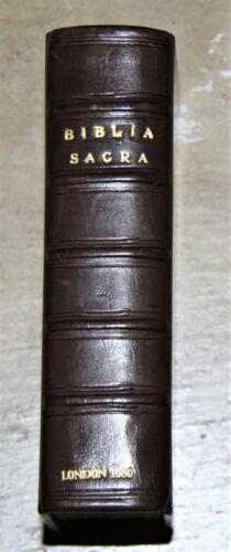 1680 antique Latin Holy Bible Biblia Sacra *professionally restored* BEAUTIFUL