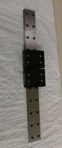 THK Linear Slide Bearing 42.9cm long Rail Guide w/ 2 of SRS15WM Block