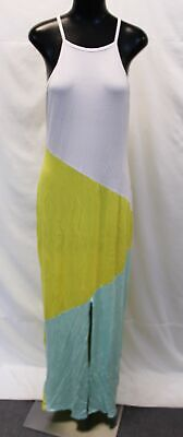 boohoo Women's Plus Libby Colour Block Maxi Dress SV3 White Size US:16 UK:20 NWT