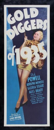 GOLD DIGGERS OF 1935 ✯ CineMasterpieces MOVIE POSTER RARE INSERT BUSBY BERKELEY