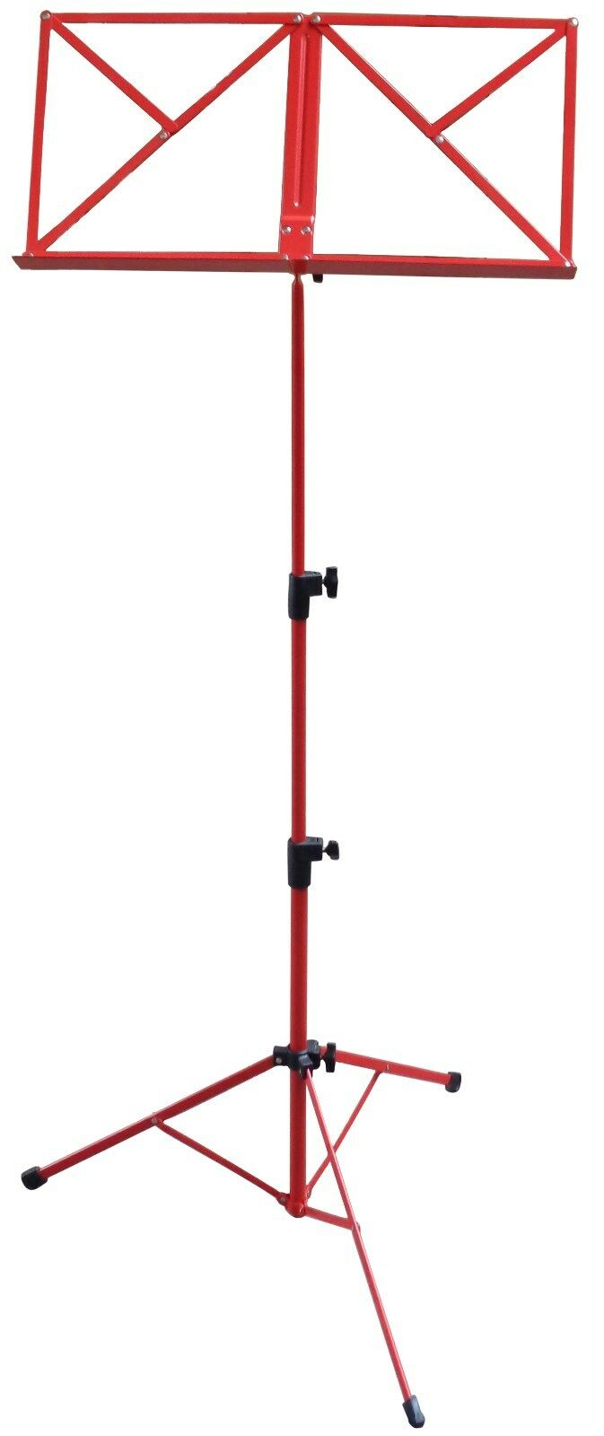 NOTENSTÄNDER - NOTENAUFLAGE + TASCHE  (blau, rot, schwarz) Höhe von 50-124cm Notenständer rot