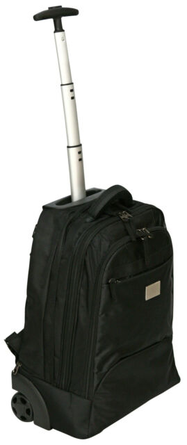 """14-16"""" Laptop Trolley Wheeled Backpack Rolling Computer Bag Hand Luggage Case"""