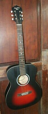 Recording King ROH-05 Solid Top Steel String 000 Size Acoustic Guitar w/Case