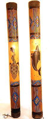 Regenmacher aus Bambus Meditation Yoga Musik Deko Rainstick 60 cm lang