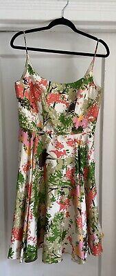 Milly Vintage A-line Floral Dress Womans Size 10
