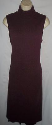 Apt. 9 burgundy pullover sleeveless stretch sweater dress M NWT