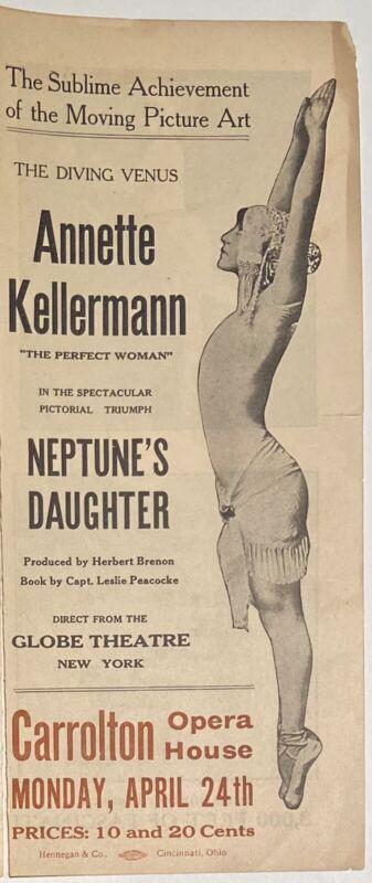 ANNETTE KELLERMAN Rare 1914 NEPTUNE