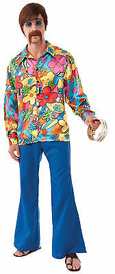 Adult 60s 70s Hippie Groovy Go-Go Disco Shirt Costume