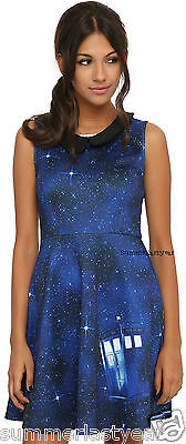 Doctor Who Galaxy TARDIS High Fashion Dress For Juniors FREE SHIP