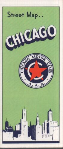 1965 AAA Road Map: Chicago NOS