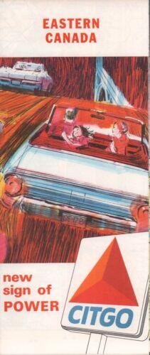 1965 Citgo Road Map: Eastern Canada NOS