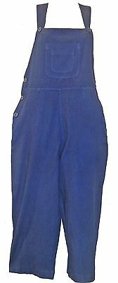 Nwt FUNKY STUFF stonewashed navy blue cotton capri bib OVERALLS L Free (Capri Cotton Bib)