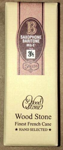 NOS/1 Unopened Box of 5 Reeds, WOODSTONE by ISHIMORI BARITONE #3 1/2 Thick
