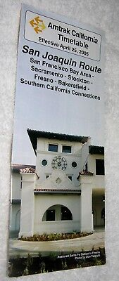 Amtrak Railroad California Timetable Effective April 25, 2005(San Joaquin Route)