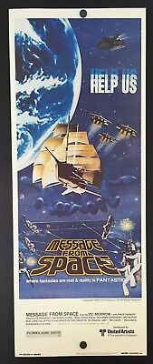 Original 1978 MESSAGE FROM SPACE Movie Poster 14 X 36 SCI FI - $18.00