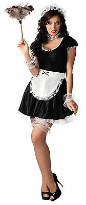 M 38 40 Sexy Zimmermädchen Dienstmädchen Damen Kostüm Karneval Putzfrau - Sexy Zimmermädchen Kostüm