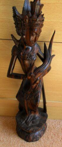 Balinese Dancer Wooden Statue