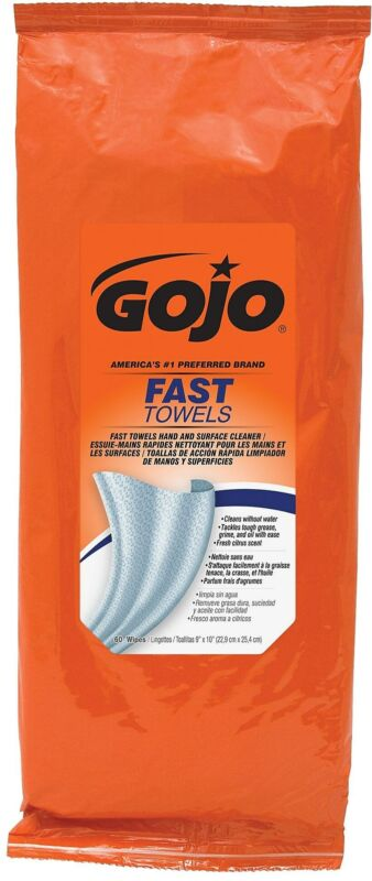 GOJO Fast Wipes Hand-Cleaning Towels Resealable 6285-06