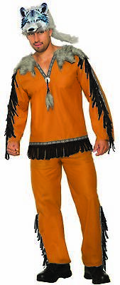 Wolf Spirit Animal Costume Adult Men's Native American Std
