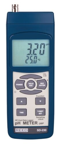 Reed SD-230 pH/ORP Meter w/ SD Card Slot for Data Logging, Measures pH, mV, Temp