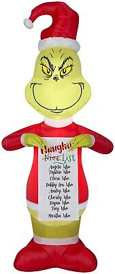 GEMMY 5.5 ft. Dr. Seuss Grinch Naughty List Christmas Airblown Inflatable