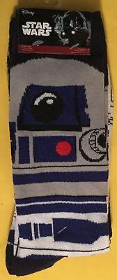 R2 D2 C 3Po Droids Star Wars Socks Mens 6 12 2 Pairs Clones Empire Sith Jedi