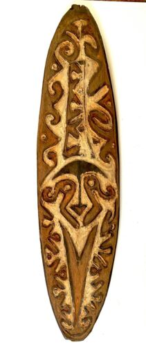 A Gope Board From The Papuan Gulf  New Guinea