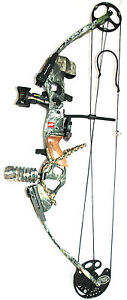 New PSE Spyder Compound Bow Package Mossy Oak Break Up Camo RH 55-70 lbs 27