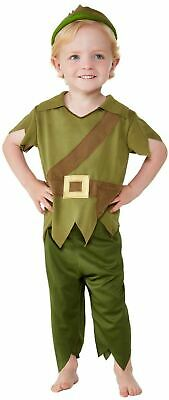 Boys Robin Hood Costume Kids School Book Week Fancy Dress Medieval Peter Pan