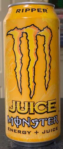 NEW JUICE MONSTER RIPPER ENERGY DRINK 16 FL OZ (473mL) 1 FULL CAN VERY RARE HTF