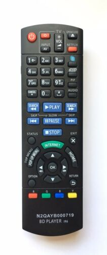 New Usbrmt Remote N2qayb000719 For Panasonic Blu-ray Disc Dvd Player Dmp-bdt220