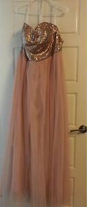 Blush maternity gown