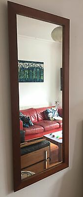 vintage retro iAntique g plan mirror teak danish 1970s wall hanging rectangular