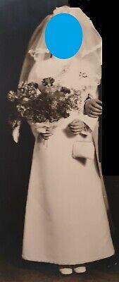 Brautkleid weiß Hochzeitskleid pale-complexioned weiß 70er Jahre 70s Kleid Gr- 36/38 Top!!!