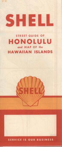 1960 Shell Road Map: Honolulu Hawaiian Islands NOS