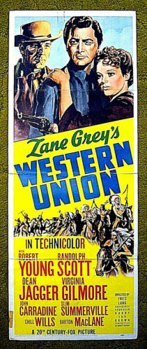 "1941 western poster - RANDOLPH SCOTT - ""WESTERN UNION"" - the pioneer of the West"